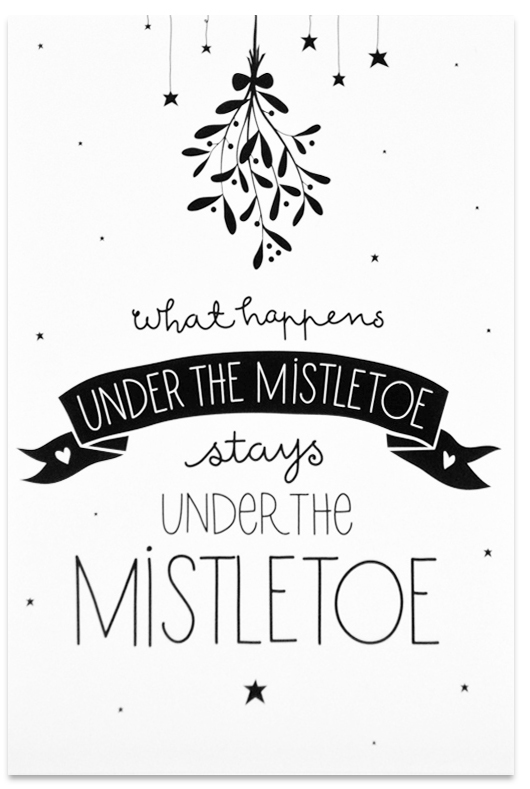 KerstkaartenCountdwon Mistletoe
