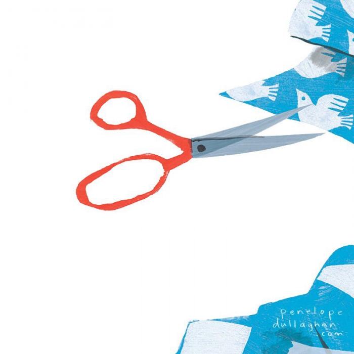 Illustratie met scharen scissors